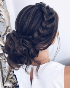 Stunning neat and messy hairstyle