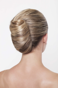 Classic french twist for valentine's day