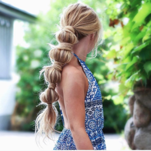 Stylish bubble ponytail for a memorable look