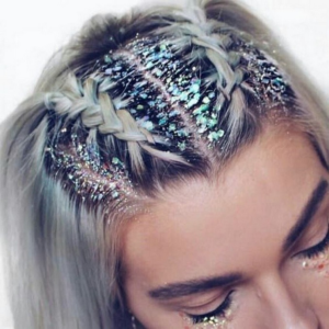 Glamorous glitter roots for your big day
