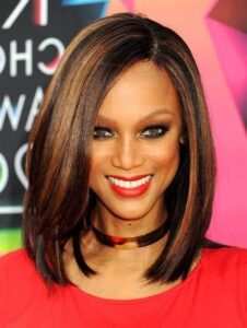Gorgeous shoulder-length hair
