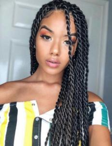 Double twisted braiding Hair