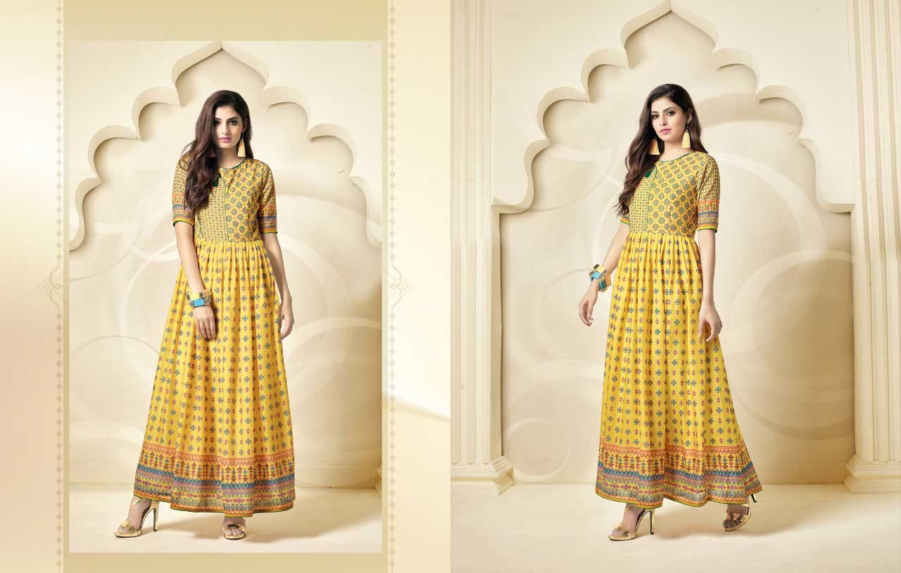 yellow-color-indo-western-kurti